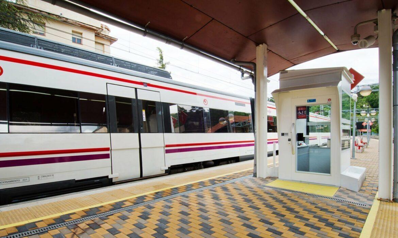 Disabled lift in Cercedilla train station, Spain