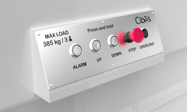 Cibes B385 platform lift control panel