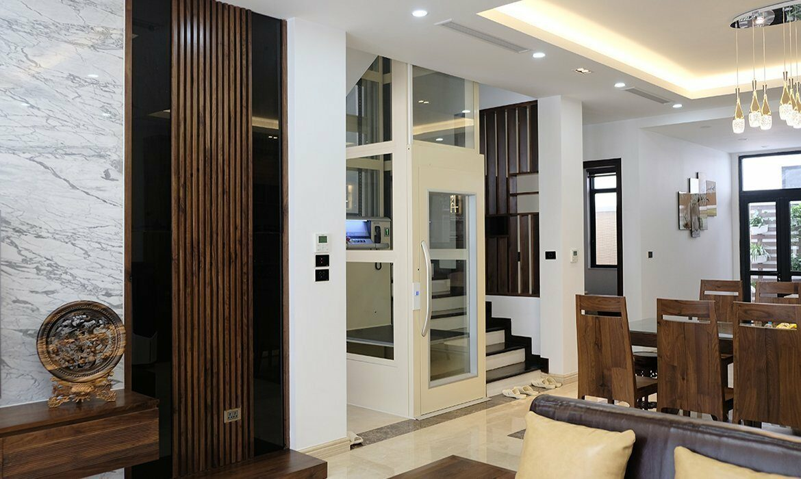 Compact home lifts with small footprints