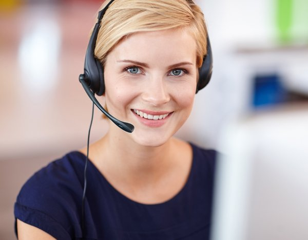 woman on headset photo