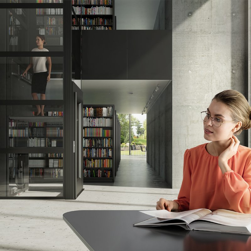 Library passenger lift