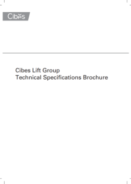 Cibes Lift technical brochure
