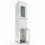 white domestic lift design
