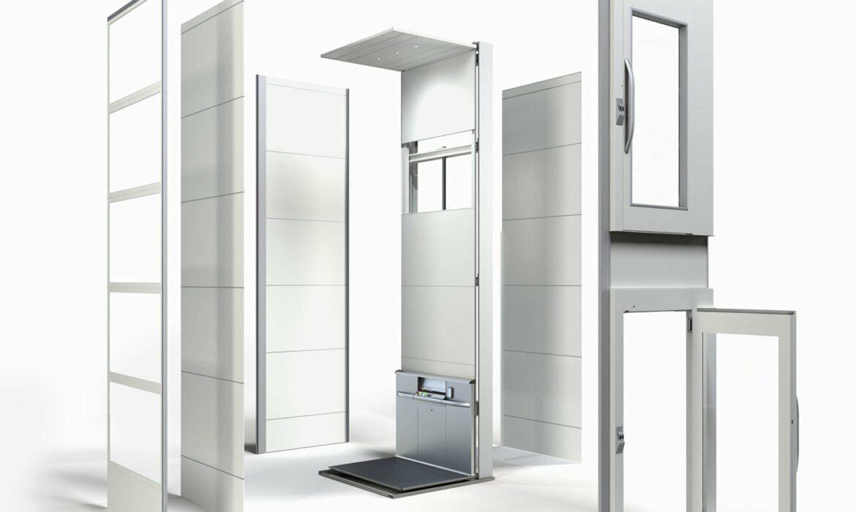 concepto de ascensor prefabricado