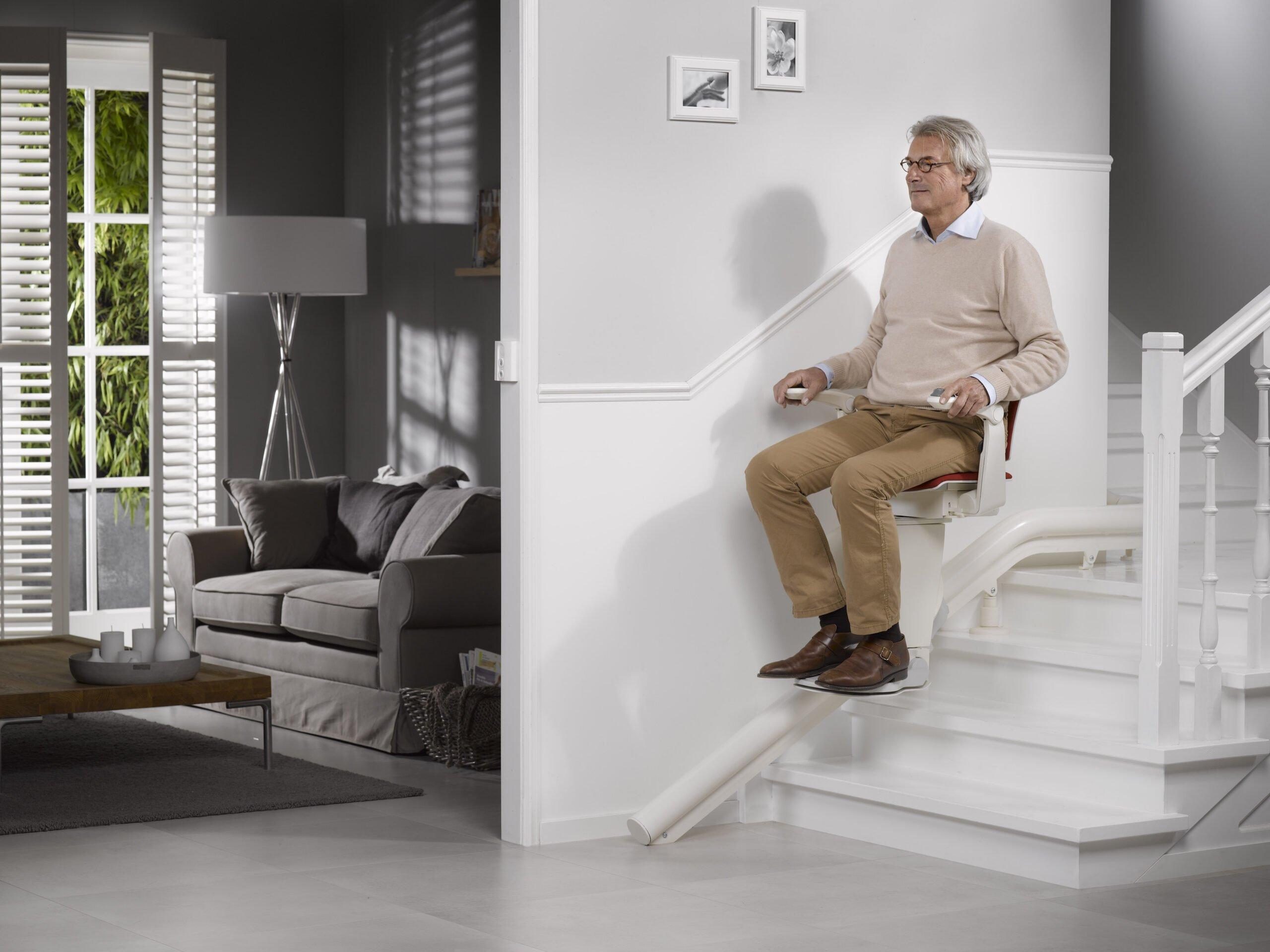 Man on chair lift