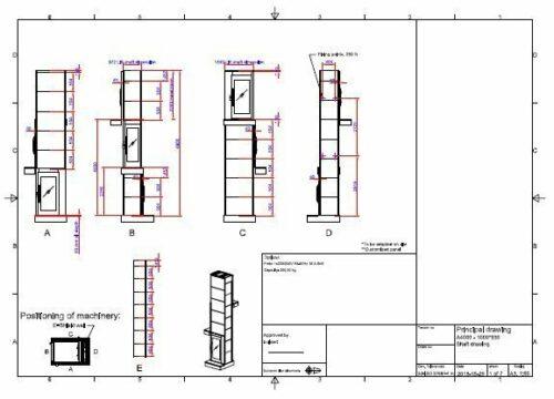 Lift dimensions