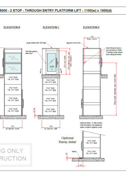 A5000 through entry technical drawing