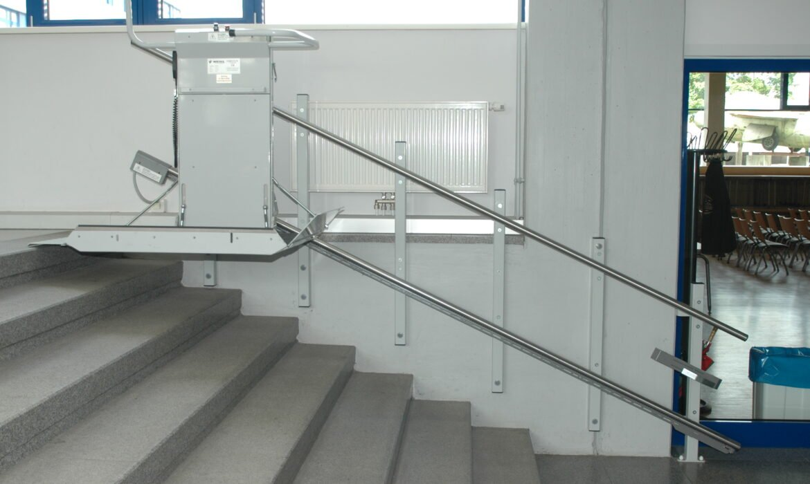 disabled lift on stairs