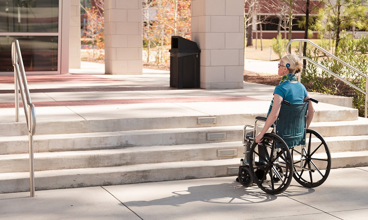 Inaccessible buildings need wheelchair lifts.