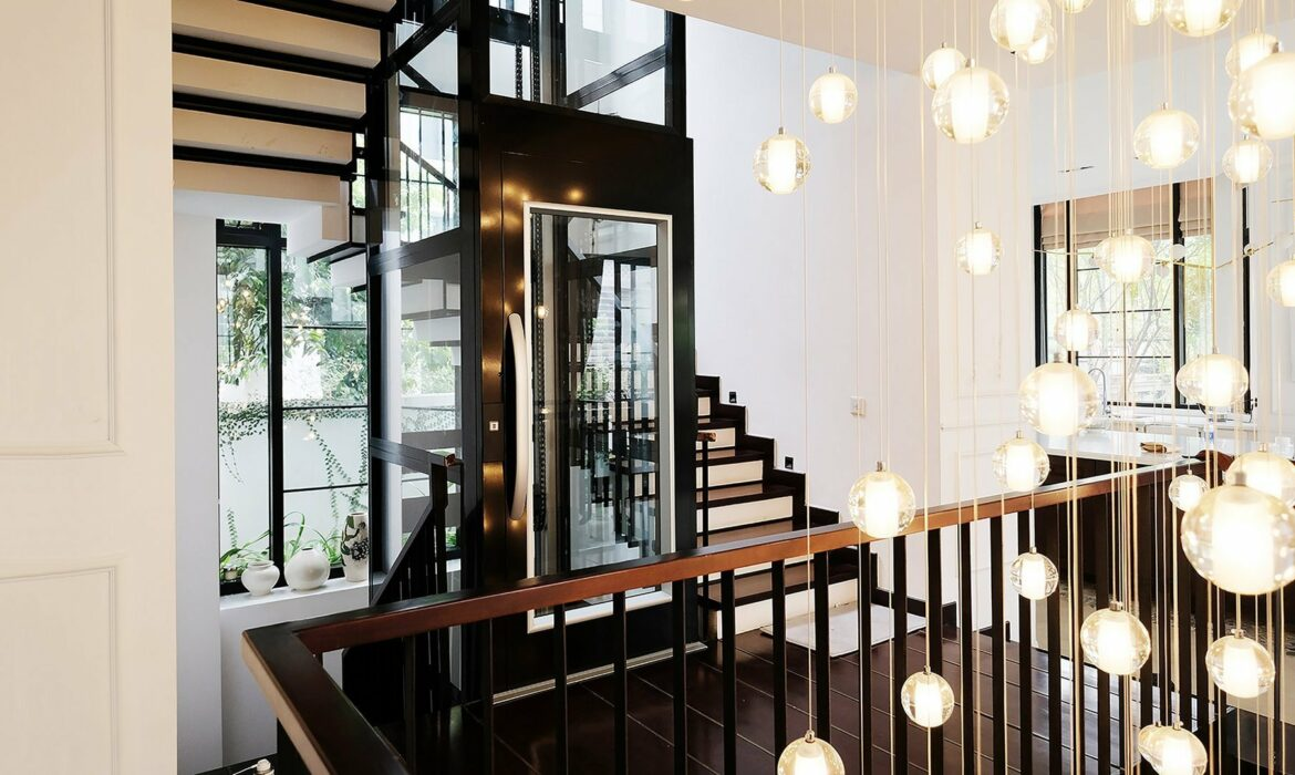 Interior design with black lift