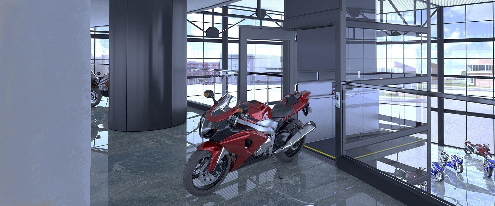 Goods lift with A40 lift door
