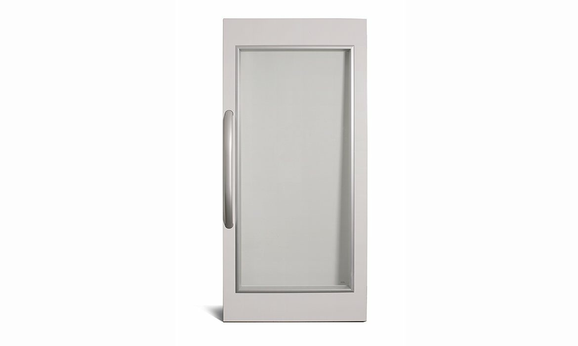 Fire rated lift door EI60G with panoramic glazing