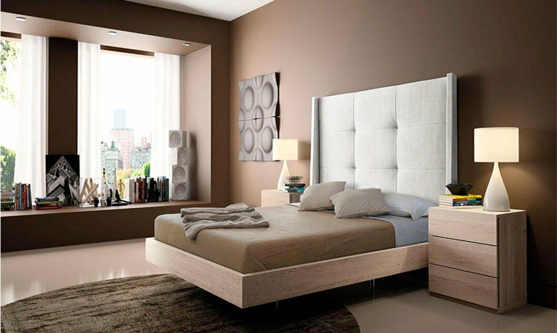 Elegant, modern style bedroom in earth colour tones
