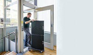Door open holder for lift doors