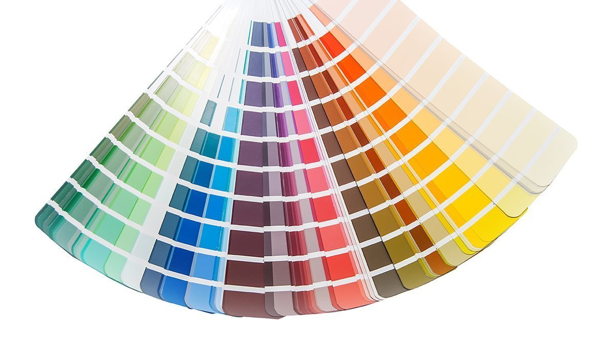 Lift colours in 250 shades