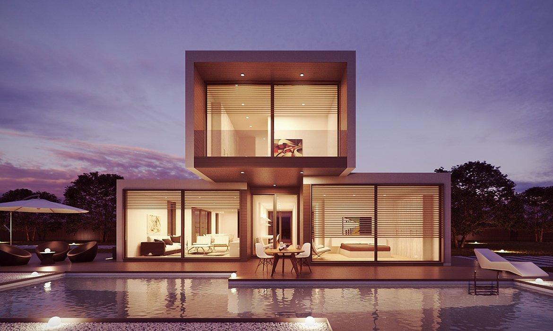 Beige concrete looks great in modern architecture