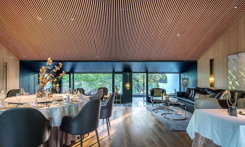 Exclusive restaurant interior