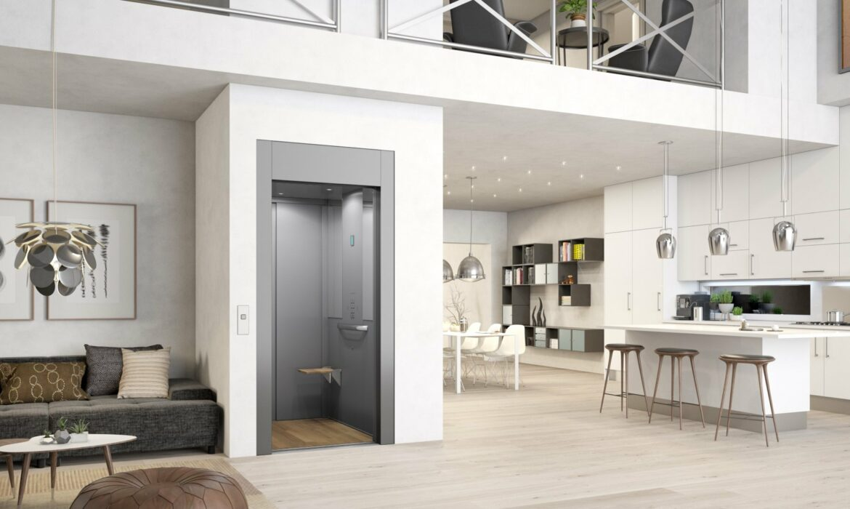 Domestic lift in classic grey