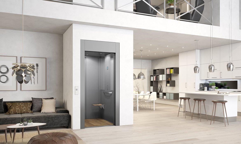 Grey domestic lift