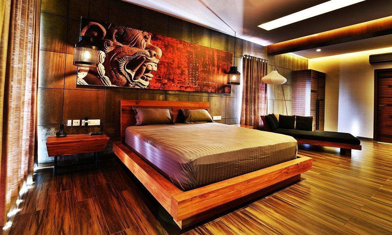 Modern oriental style bedroom