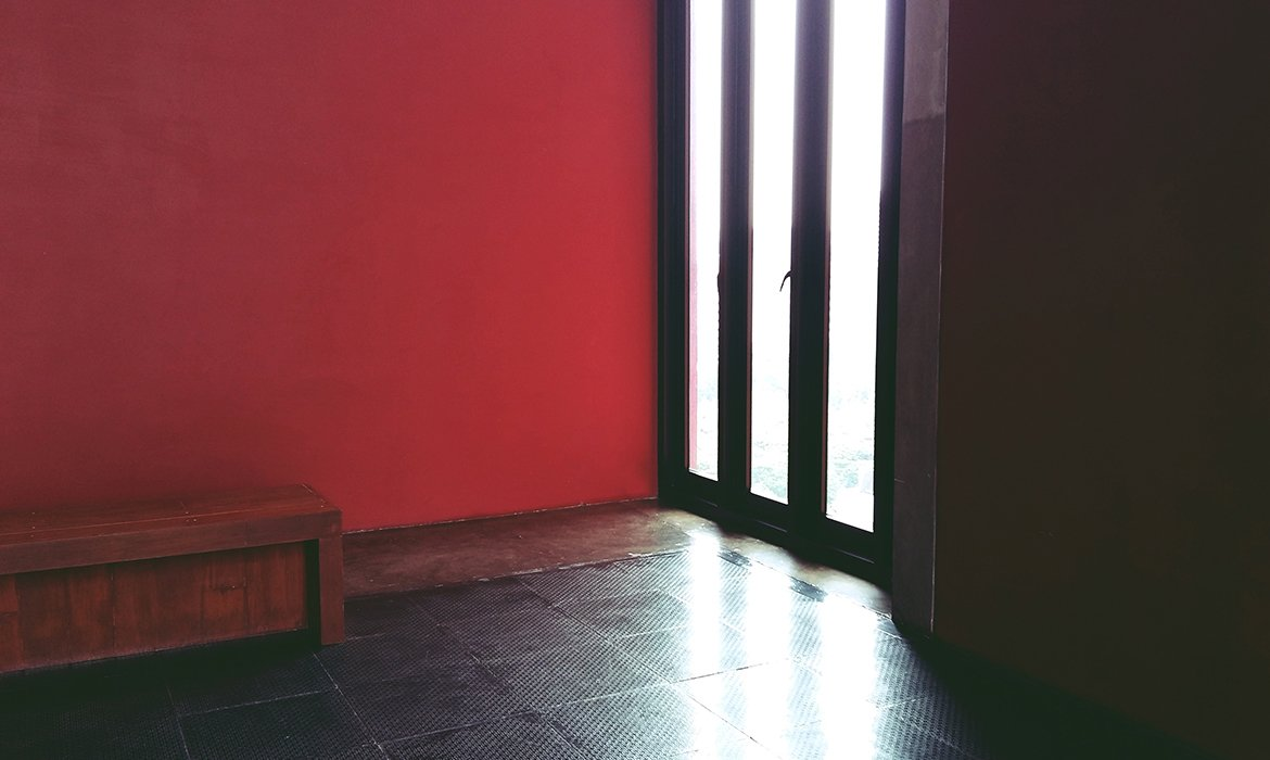 Oriental red wall