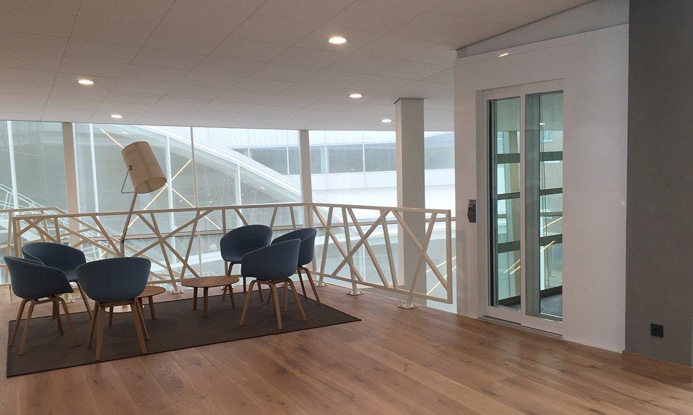 Stylish white office lift