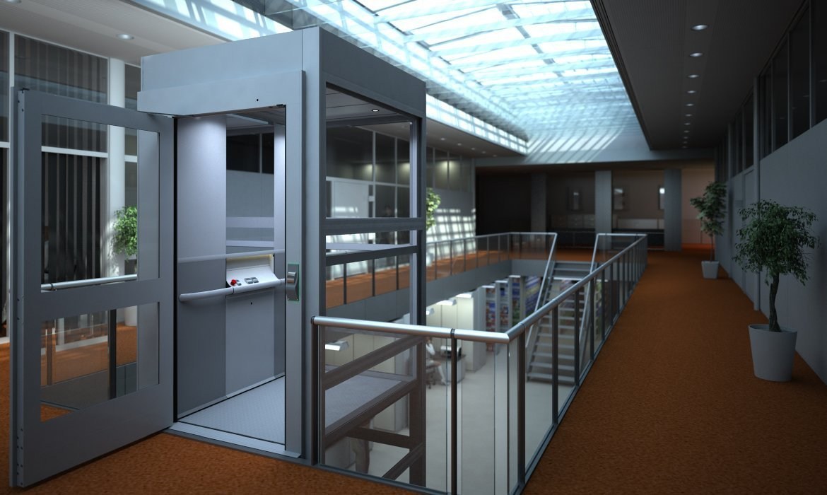 Platform lift with A5000H comfort wall