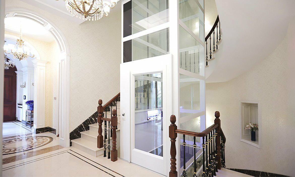 Domestic lift in luxury home
