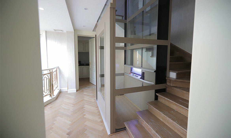 Lift in luxury hotel