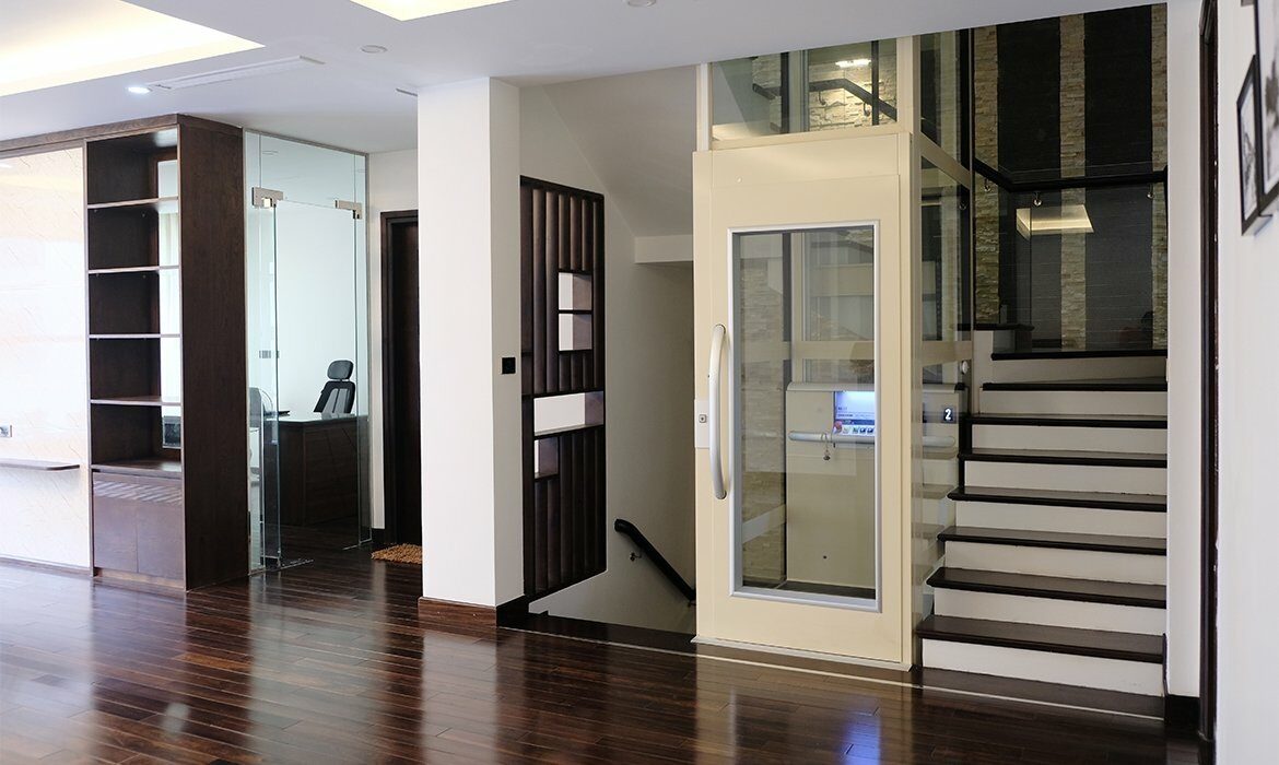 Lift in office building