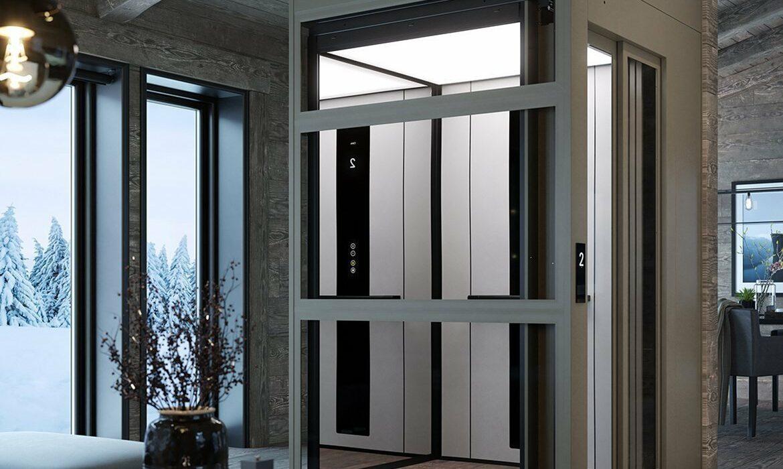 Domestic lift in villa