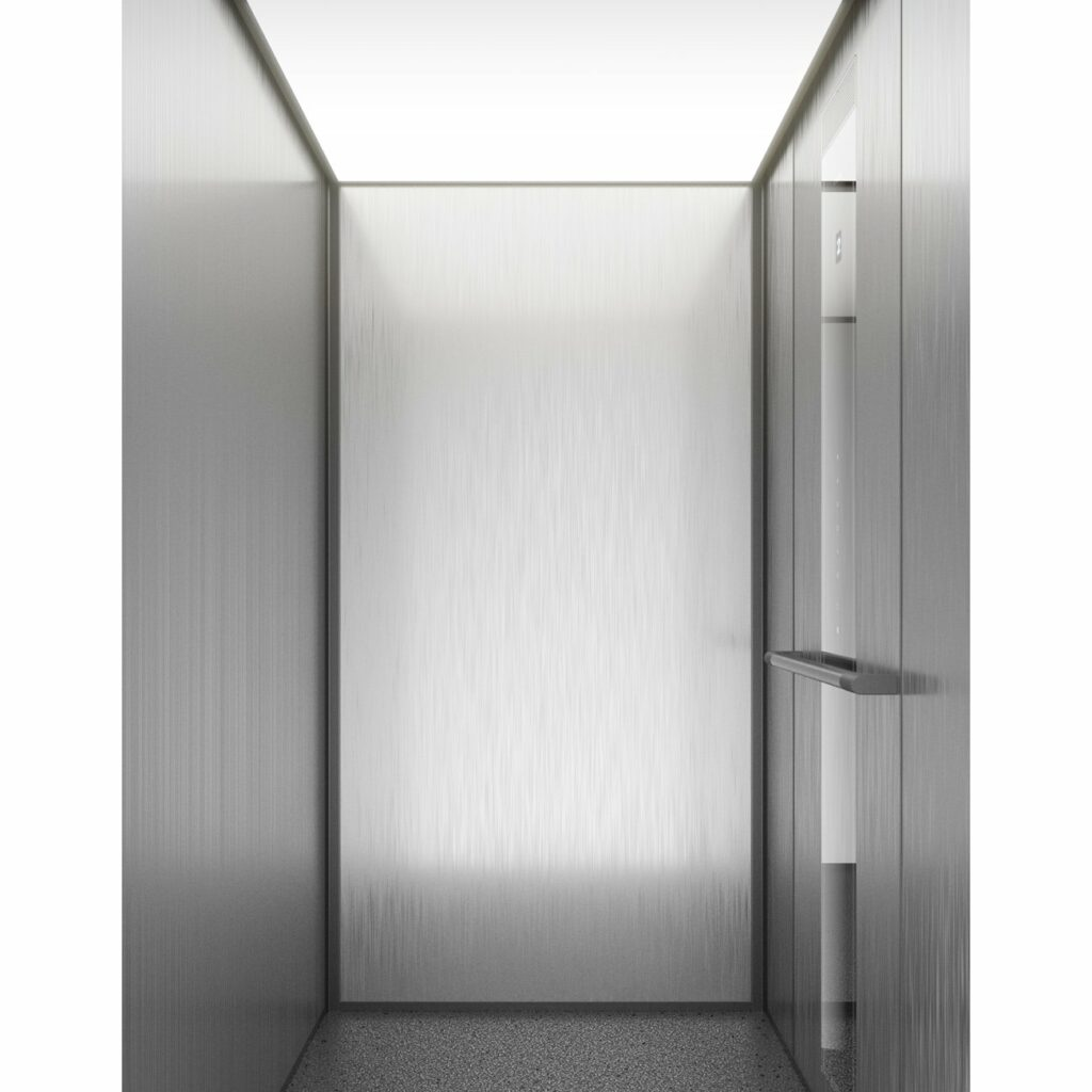 Passenger lift with diffuser ceiling light