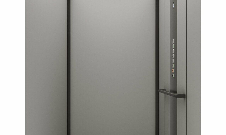Passenger lift with LED lit ceiling
