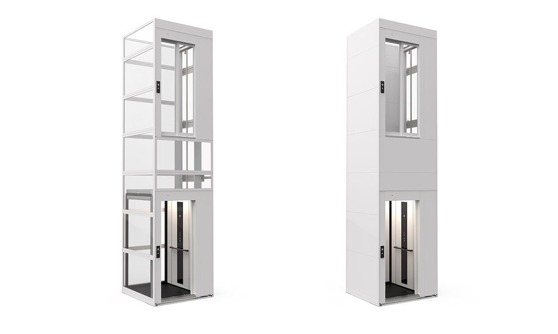 Domestic lift with modular lift shaft C1 Pure cabin lift
