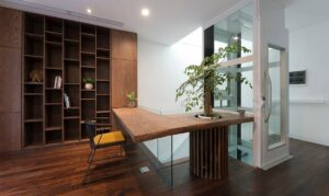 Residential lift in an elegant home office