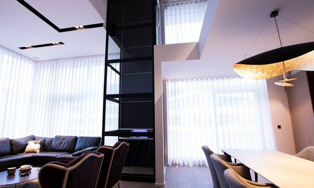 Lift for duplex apartment