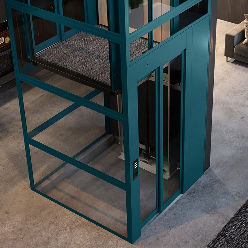 Cabin lift with 100 mm pit