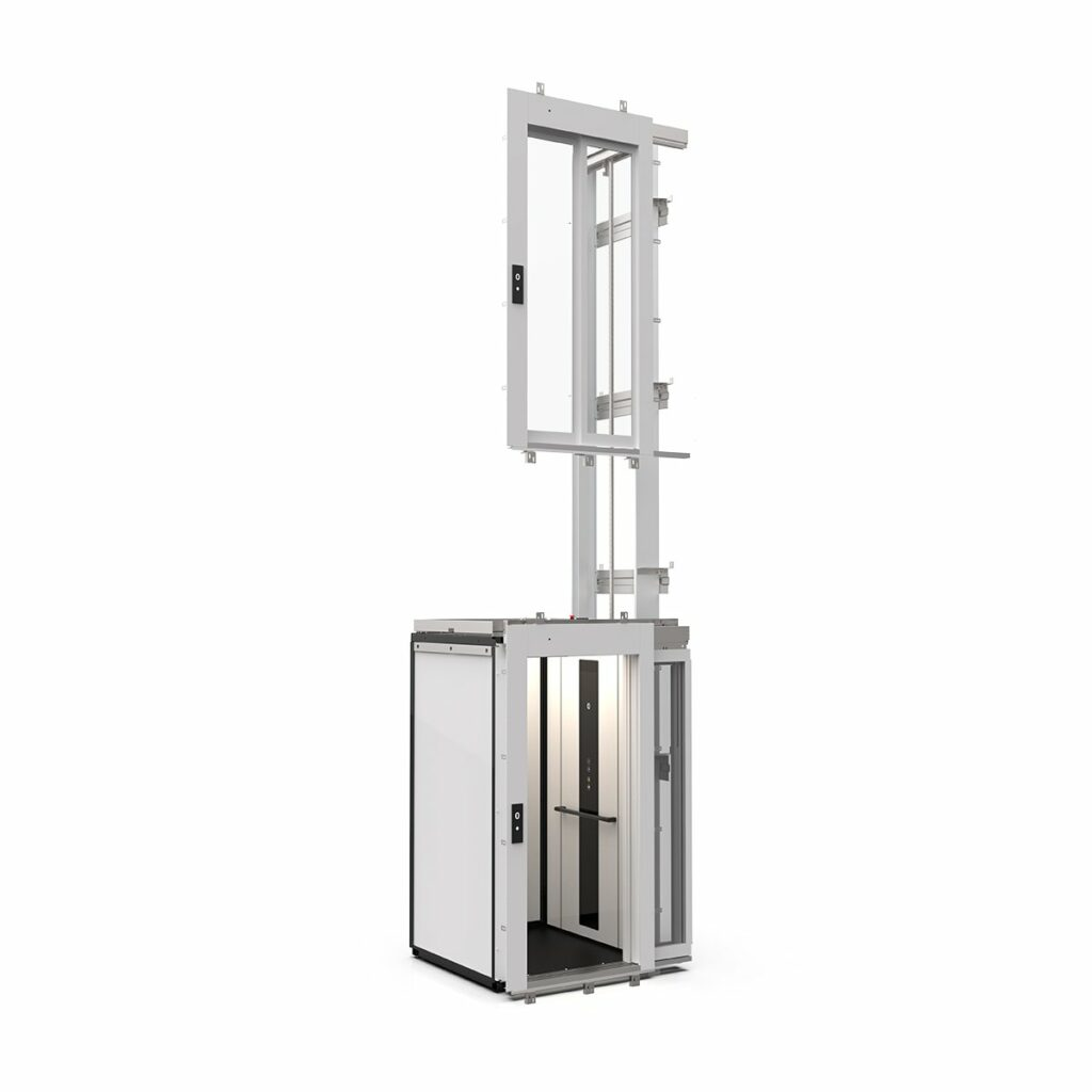 Cabin lift designed for site-built shaft