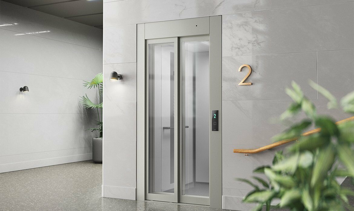 Telescopic doors in glass