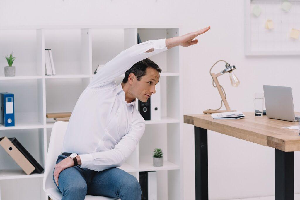 Man Doing Side Bend