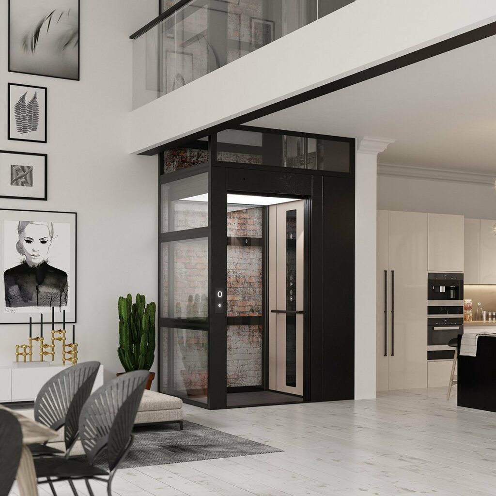 Domestic lifts for elegant loft apartments