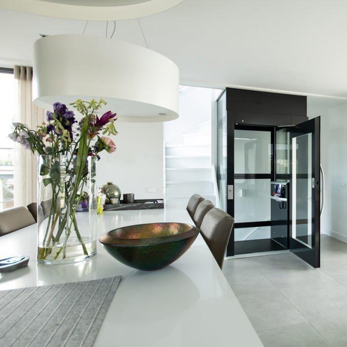 Lift in duplex apartment