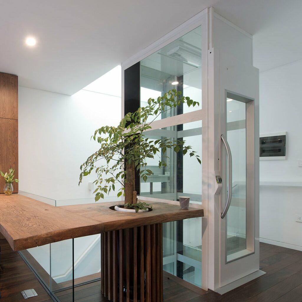 Home lift with super slim design