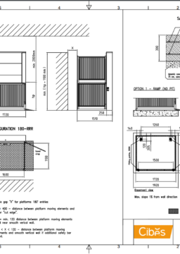 B3000 Wheelchair Lift Typical Drawing