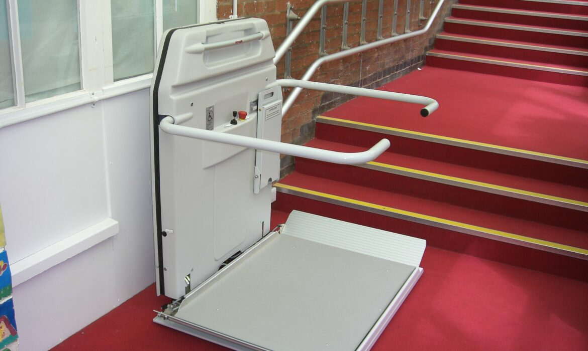 Cibes S6 Stairlift on school staircase