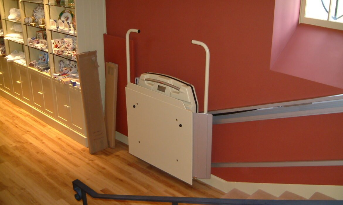 Cibes S7 Stairlift in commercial building