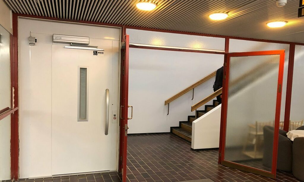 Fire rated lift door Gustavleund