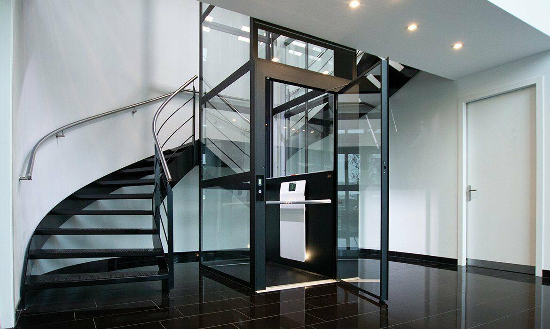 Glazed lift shaft