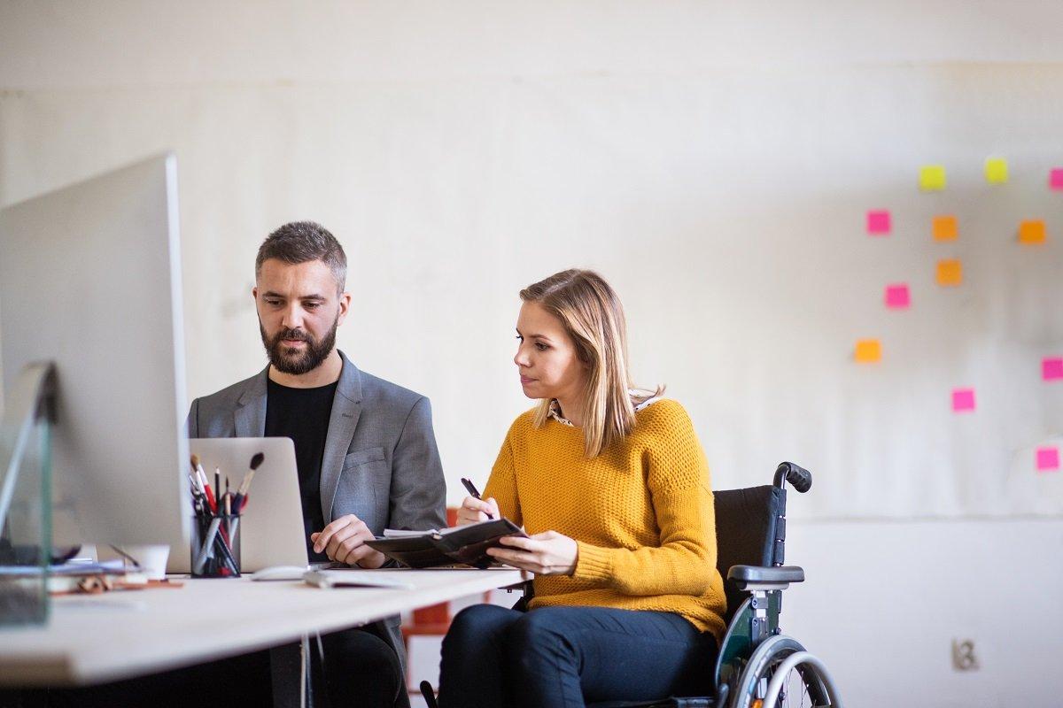 Wheelchair User In Office
