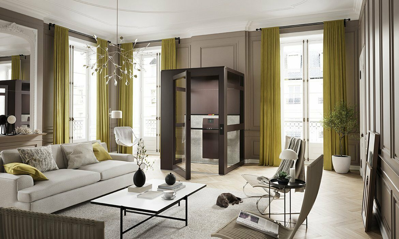 Home elevator in Parisian apartment
